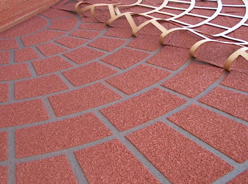 stencilled concrete-